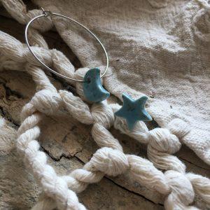 orecchini asimmetrci luna stella