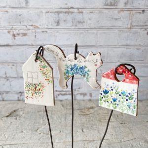 bacchette decorative casetta e gatto