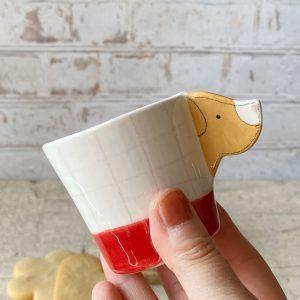 tazzina cane color miele